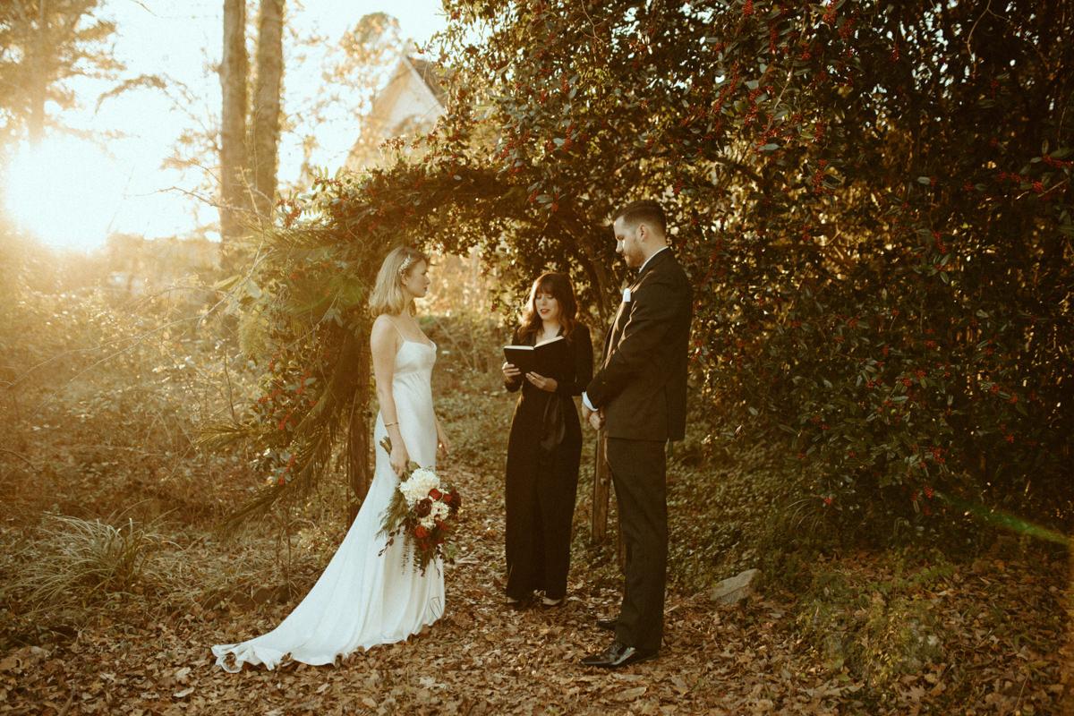 Impromptu winter wedding
