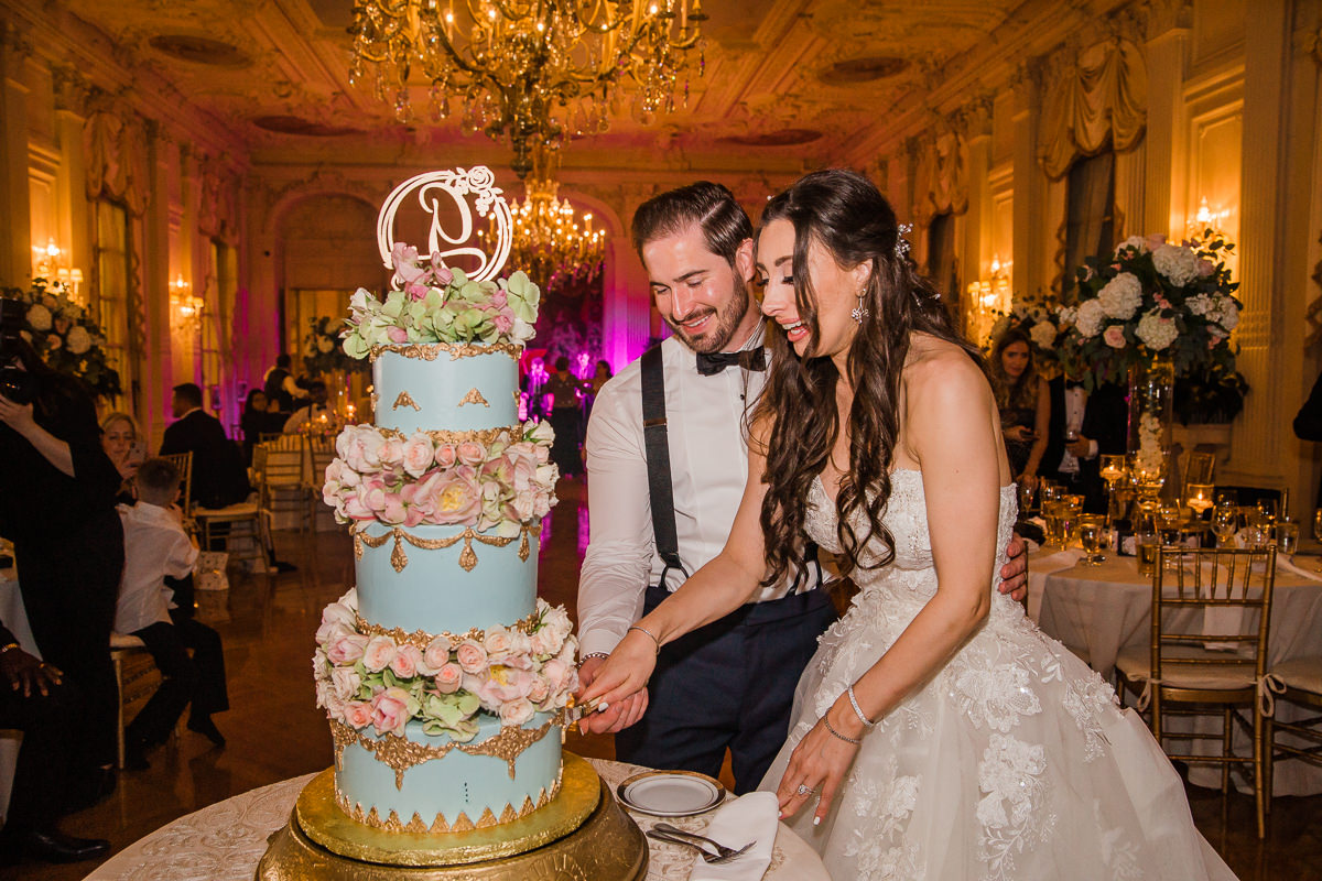 Fairytale Wedding Cake For Wedding At A Gilded Mansion