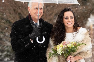 Winter covid wedding that was rescheduled three times